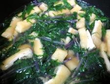 紅水菜とお揚げの炊いたん 調理