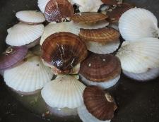 ホタテの稚貝 酒蒸し 調理②