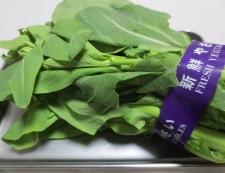 チンゲン菜花のめんつゆ和え 材料