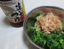 チンゲン菜花のめんつゆ和え 調理