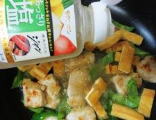 鶏むね肉とお揚げの塩ジャン炒め 調理④