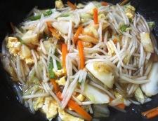 もやしと炒り卵の鶏がらスープあんかけ 調理⑥