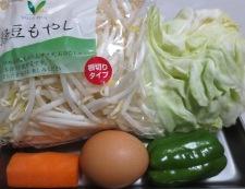 もやしと炒り卵の鶏がらスープあんかけ 材料