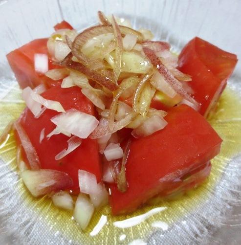 トマトとみょうがのサラダ B
