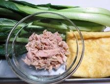 小松菜とツナの煮物<オレガノ風味> 材料