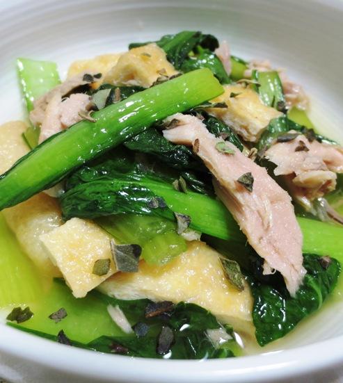 小松菜とツナの煮物<オレガノ風味> 大