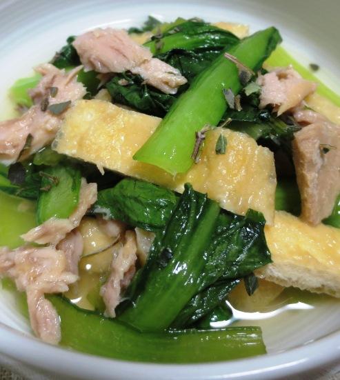 小松菜とツナの煮物<オレガノ風味> 拡大
