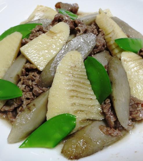 牛肉とごぼうの煮物 拡大