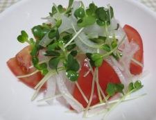 トマト&オニオンサラダ 調理③