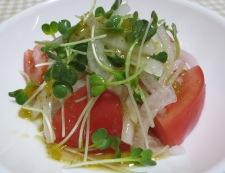 トマト&オニオンサラダ 調理④