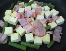 豆腐とベーコンのカレー炒め 調理③