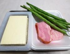 豆腐とベーコンのカレー炒め 材料