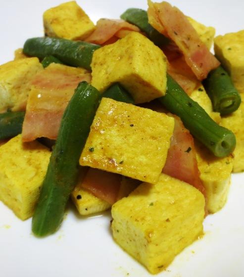 豆腐とベーコンのカレー炒め レシピ改大