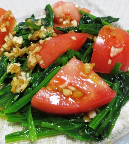 トマトとほうれん草のごまポン酢サラダ B