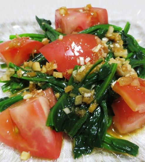 トマトとほうれん草のごまポン酢サラダ 大
