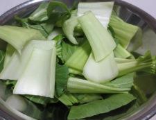 鶏ささみと青梗菜のペパー炒め 【下準備】②