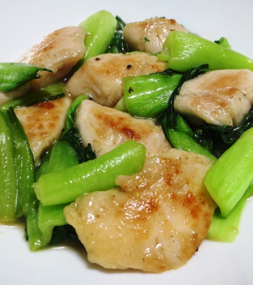 鶏ささみと青梗菜のペパー炒め 拡大