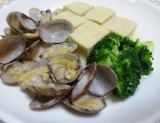 あさりと高野豆腐のスープ煮 調理⑥