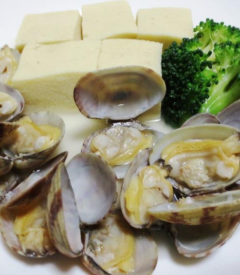 あさりと高野豆腐のスープ煮 拡大
