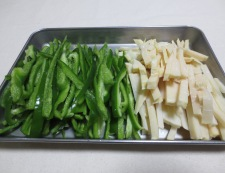 青椒肉絲 【下準備】②