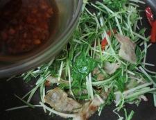 水菜炒め 調理④