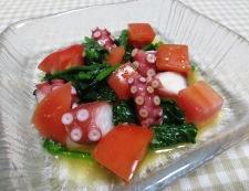 タコとトマトの麺つゆわさびサラダ 調理④