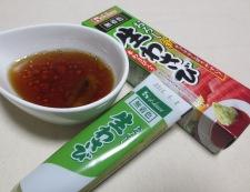 タコとトマトの麺つゆわさびサラダ ドレッシング