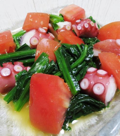 タコとトマトの麺つゆわさびサラダ 拡大