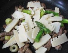 牛肉とたけのこの炒め 調理④