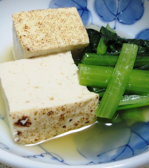 焼き豆腐と小松菜の煮物 B