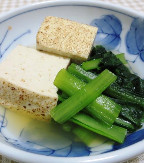 焼き豆腐と小松菜の煮物 大