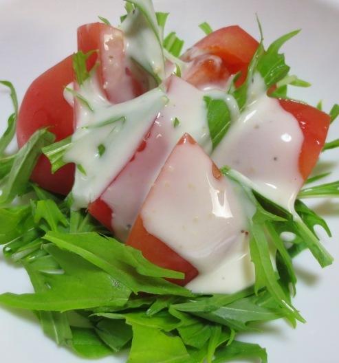 水菜とトマトのサラダ B
