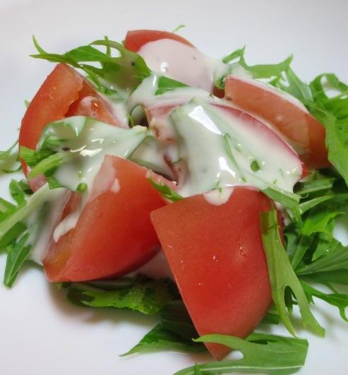 水菜とトマトのサラダ 大