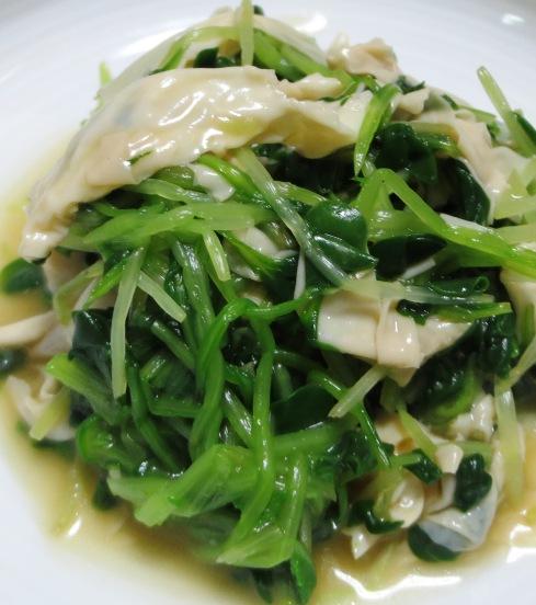 つまみ菜と湯葉の和え物 B