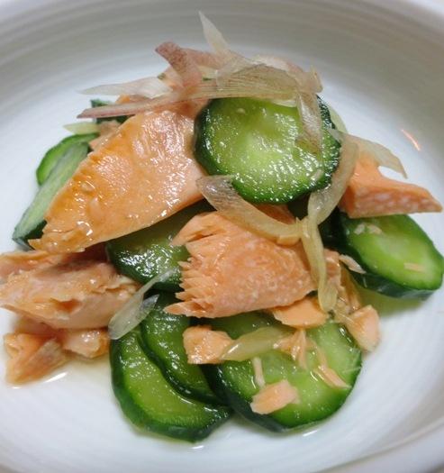 塩鮭ときゅうりの酢の物 大