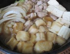 かしわのすき焼き 調理④