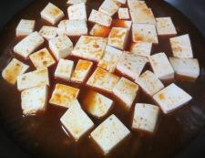 麻婆豆腐の冷やし中華 調理③