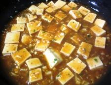 麻婆豆腐の冷やし中華 調理④