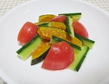 トマトと焼きかぼちゃのわさびサラダ 調理②