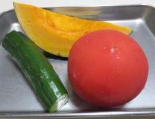 トマトと焼きかぼちゃのわさびサラダ 材料