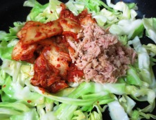 ツナキムチ炒め冷麺 調理③