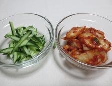 ツナキムチ炒め冷麺 【下準備】①