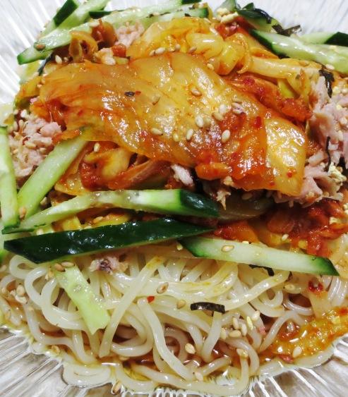 ツナキムチ炒め冷麺 大