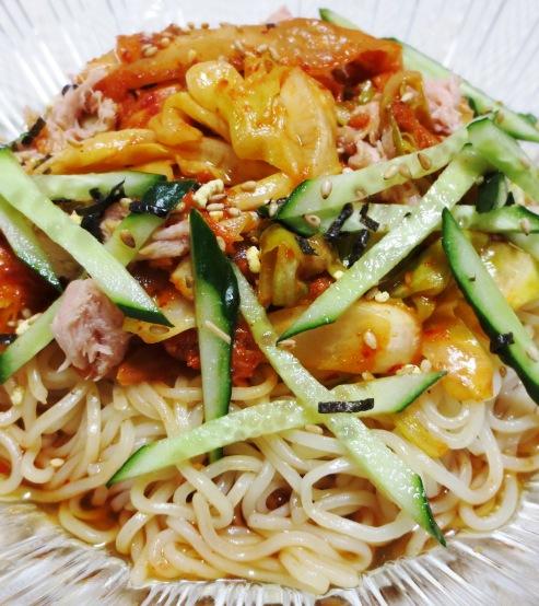 ツナキムチ炒め冷麺 拡大