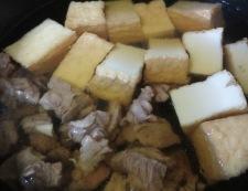 牛すじと青ねぎの煮物 調理④