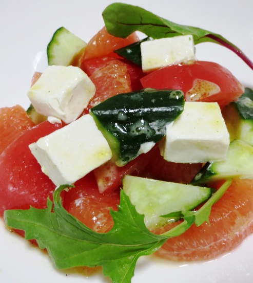チーズとグレープフルーツのおつまみサラダ 拡大