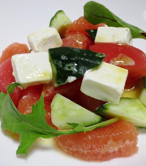 チーズとグレープフルーツのおつまみサラダ 大②