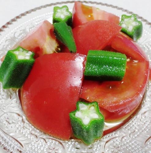 トマトとおくらの麺つゆ合え B