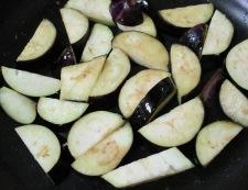 ナスと豚バラ肉の甘味噌炒め 調理②