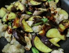 ナスと豚バラ肉の甘味噌炒め 調理⑤